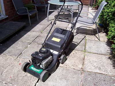 lawn mower petrol qualcast trojan cut push mower lawnmowers shop