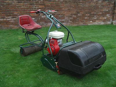 Webb Cylinder Ride On Gang Petrol Lawnmower Self Propelled With Honda Engine - Lawnmowers Shop