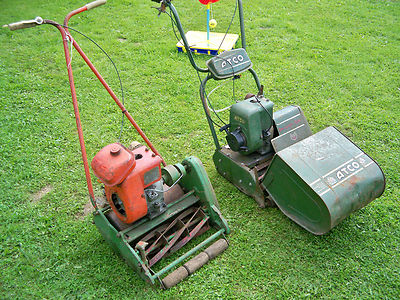 Atco Deluxe B14 Push Mower And Suffolk Punch Petrol Mowers
