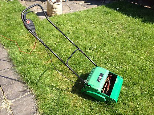 B Amp Q Atco Qualcast Electric Cylinder Mower Push Lawnmower