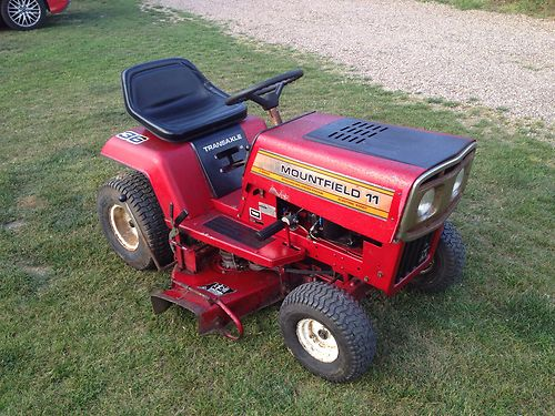 Old Murray Mountfield 11 Hp Ride On Mower Garden Tractor 36″ Briggs And Stratton - Lawnmowers Shop