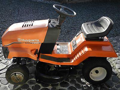 Husqvarna Lt 100 Ride On Mower In Gwo - Lawnmowers Shop