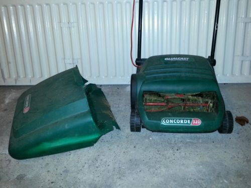 Electric Push Cylinder Lawnmower Qualcast Bosch Concorde