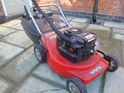 Petrol Rover Push Lawn Mower Briggs And Stratton Engine