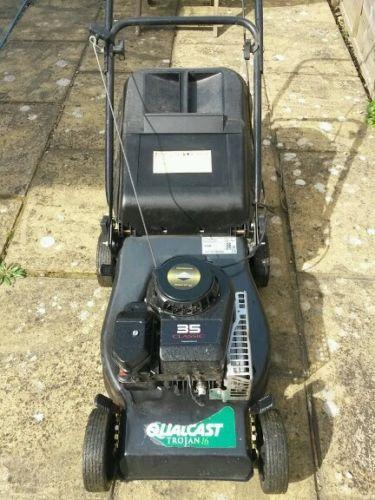 Qualcast Trojan 44 Cm 16 Inch 3 5hp Petrol Mower Push