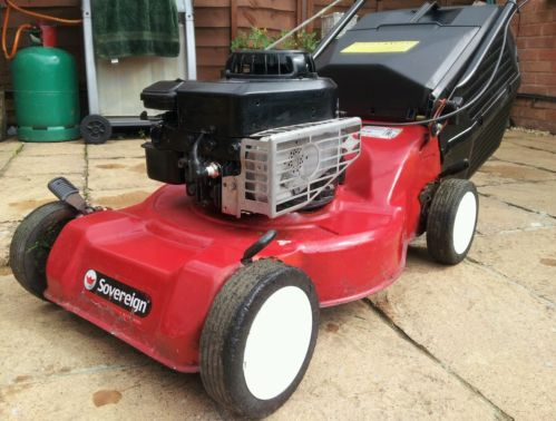 Sovereign Petrol Push Lawn Mower With Serviced Briggs And