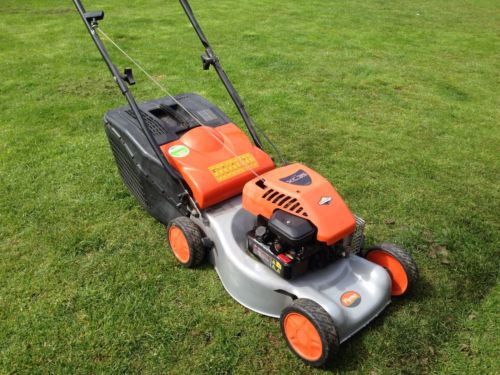 Flymo 46s Push Petrol Lawn Mower Briggs And Stratton Serviced - Lawnmowers Shop
