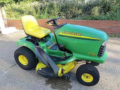 John Deere Lt160 Ride On Mower Mulcher Lawn Garden