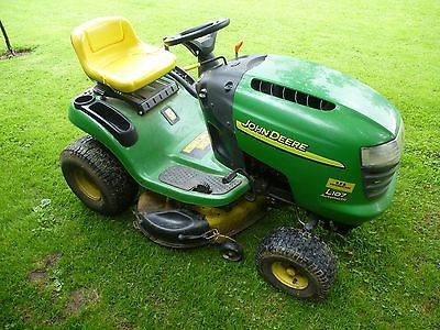 John Deere L107 Ride On Mower Lawn Tractor 42 Cut Mulcher