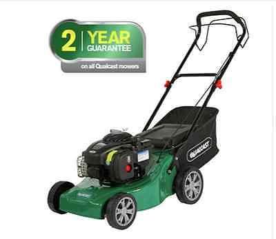 New Qualcast 41cm Wide Push Petrol Lawnmower Garden Grass