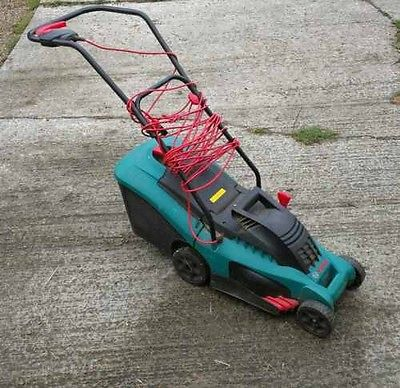 bosch rotak 34 electric push mower no reserve lawnmowers shop. Black Bedroom Furniture Sets. Home Design Ideas
