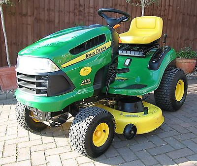 john deere ride on mower including complete fitted jd mulching kit low hours lawnmowers shop. Black Bedroom Furniture Sets. Home Design Ideas