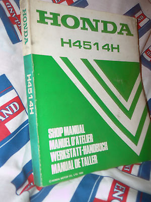 Honda 4514 Service manual is Also A starter